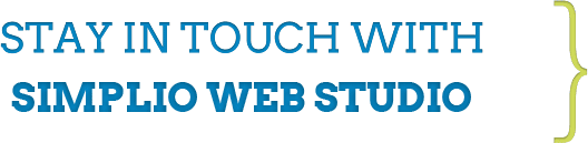 Stay in touch with Simplio Web Studio