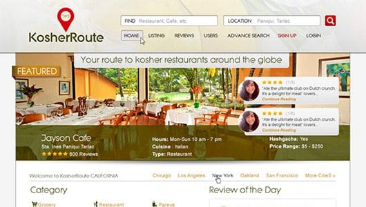 kosher route website