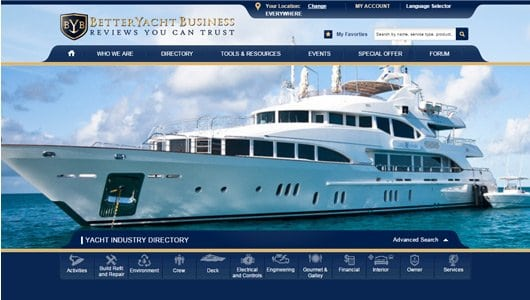 yachting web design