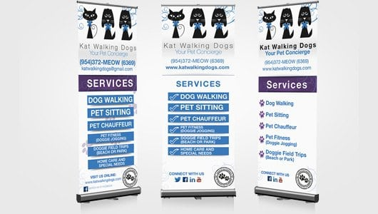 Pet industry roll up banner design