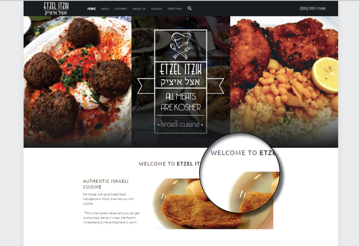 Etzel Itzik Website Design