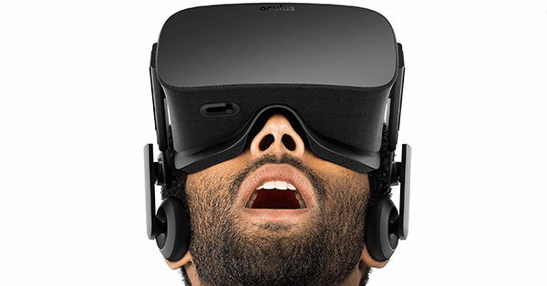 Oculus Rift, a VR device.