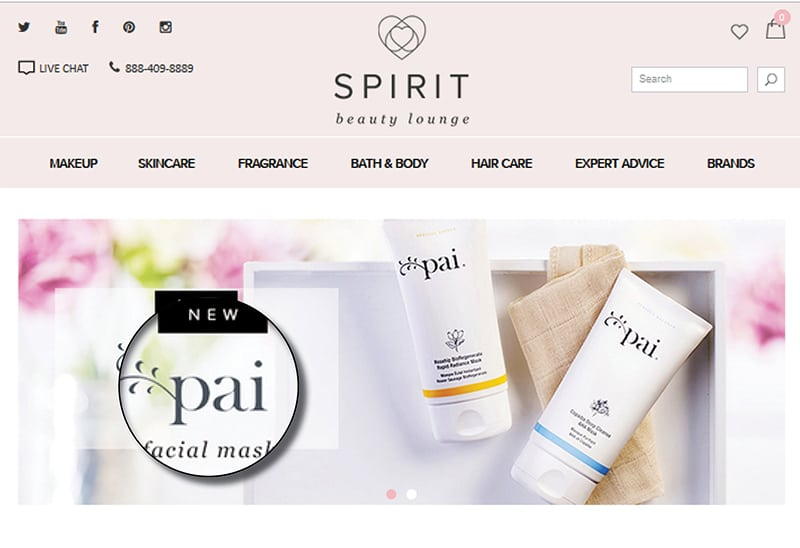 Spirit Beauty Lounge Website