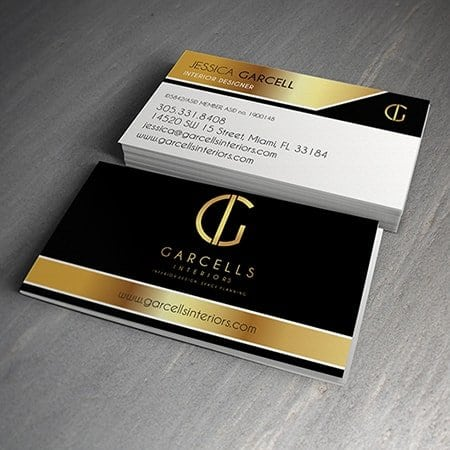 Garcells Interiors Business Card