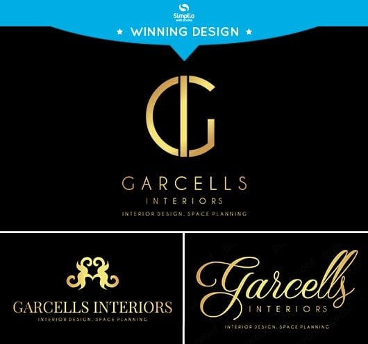 Garcells Interiors Logo Design