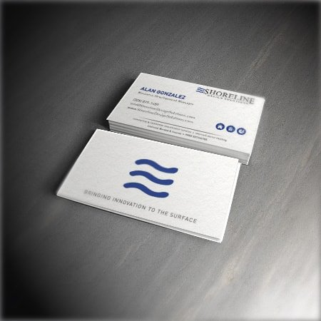 Shoreline Design Solutions Business Card Design Featured