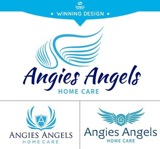 Angies Angels Logo Design